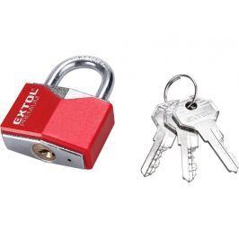 Zámek visací červený 3klíče Extol Premium - 60mm Bezpečnostní