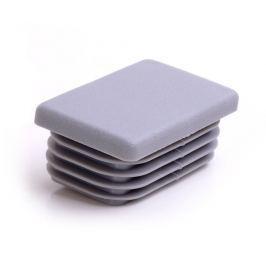 Záslepka obdélníková rovná šedá - 30x15x0.8-2.5mm