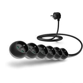 CONNECT IT prodlužovací 230 V, 6 zásuvek, 2m, černý