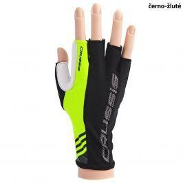 Cyklo rukavice CRUSSIS černo-žluté, vel. M