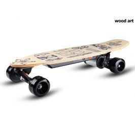 Elektrický skateboard SKATEY 150L wood art