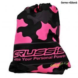Crussis sportovní taška černo růžová fluo