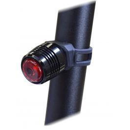 Blikačka hliníková MAXBIKE zadní nabíjecí - černá