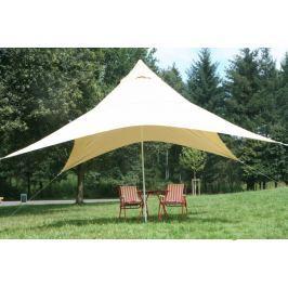 PEDDY SHIELD Kempingová sluneční plachta (4) pyramida 4 x 4 m - pískové barvy - ochrana proti slunci a dešti pro celou rodinu