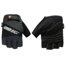 Cyklo rukavice POLEDNIK Soft Grip pánské velikost M - černé
