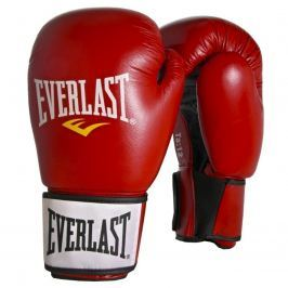 Boxerské kožené rukavice EVERLAST Moulded Ergo červené