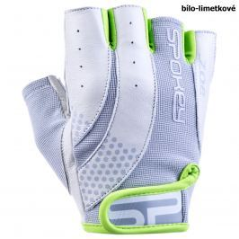 Fitness rukavice SPOKEY Zoe II bílo-limetkové - vel. S
