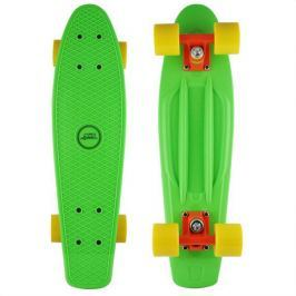 Skateboard NILS Extreme Plastik Board Fishboard - zelený