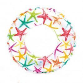 Nafukovací plavecký kruh INTEX Mořský potisk 51 cm - hvězdy