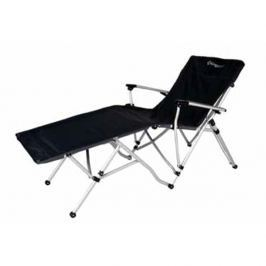 Camping skládací židle - lehátko s opěrkou nohou