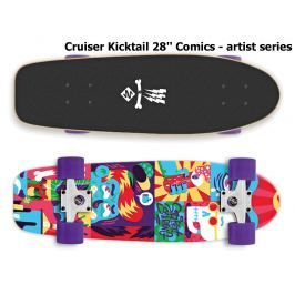 Skateboard STREET SURFING Cruiser Kicktail 28 Comics