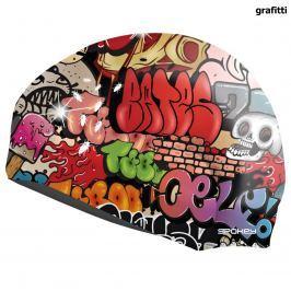 Plavecká čepice SPOKEY Stylo - grafitti