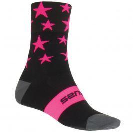 Ponožky SENSOR Stars černo-růžové vel. 3-5