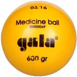 Medicimbální míč GALA BM P 600 g plastový žlutý