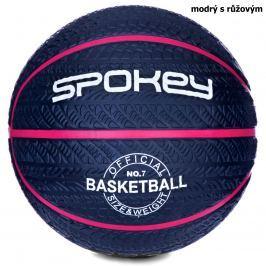 Basketbalový míč SPOKEY Magic 7 modrý s růžovým