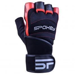 Fitness rukavice SPOKEY Miton černo-červené - vel. M