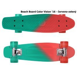 Skateboard STREET SURFING Beach Board Color Vision - červeno-zelený