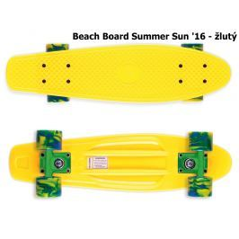 Skateboard STREET SURFING Beach Board Summer Sun - žlutý