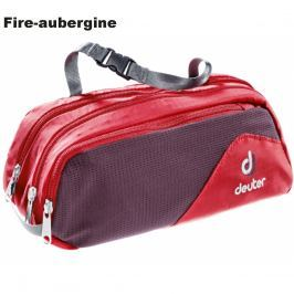 Toaletní taška DEUTER Wash Bag Tour II - fire-aubergine