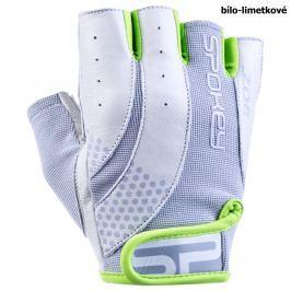 Fitness rukavice SPOKEY Zoe II bílo-limetkové - vel. L
