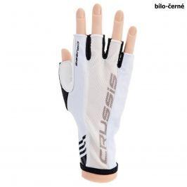 Cyklo rukavice CRUSSIS bílo-černé, vel. M