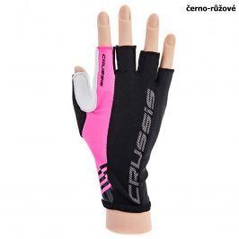 Cyklo rukavice CRUSSIS černo-růžové, vel. L