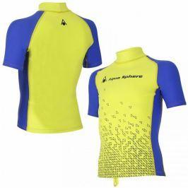 Lycrové triko AQUA SPHERE Bix chlapecké žluto-modré - vel. 110