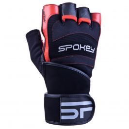 Fitness rukavice SPOKEY Miton černo-červené - vel. L