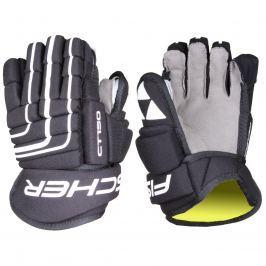 Hokejové rukavice FISCHER CT150 junior, černo-bílé vel. 11''
