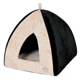 Pelíšek pro psy Trixie Gina 42*37*42cm béžovo-černá
