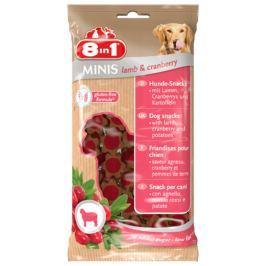 Pochoutka 8in1 Minis Lamb&Cranberry 100g
