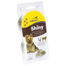Gimdog Konzerva SHINY DOG kuře+hovězí 2X85g