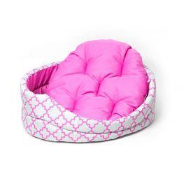 Pelech Dog Fantasy ovál s polštářem ornament růžový 55cm