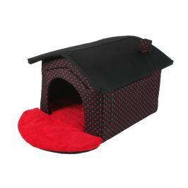 I love pets Bouda Dotty červený puntík 52 x 60 cm