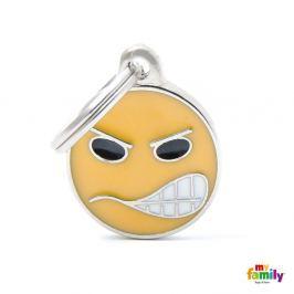 Známka My Family Charms emotikon ANGRY