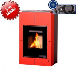 HS FLAMINGO Krbová kamna AQUAFLAM VARIO - SAPORO 11/5 kW červená, elektronická regulace