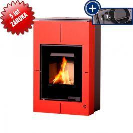 HS FLAMINGO Krbová kamna AQUAFLAM VARIO - SAPORO 11/7 kW červená, elektronická regulace