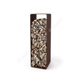 HS FLAMINGO Stojan na dřevo FLAMINGO DELUXE 2, hnědá - sametová