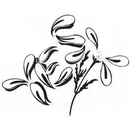 Samolepící dekorace Květina 2, matná černá Samolepky na zeď