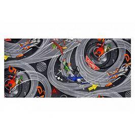 Dětský koberec Planes šedý, 140x200 cm