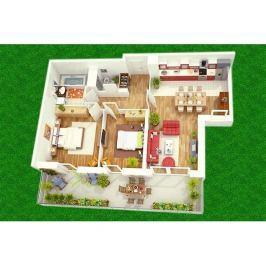 Dětský hrací koberec Dům