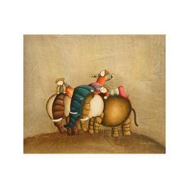 Obraz - Děti a sloni