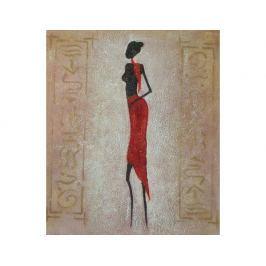 Obraz - Modelka v čevené sukni 2