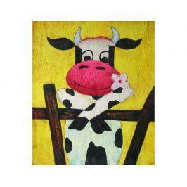 Obraz - Kráva v ohradě