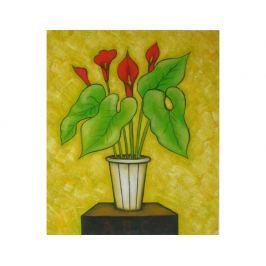Obraz - Kytice v květináčí