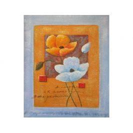 Obraz - Oranžovobílé květy