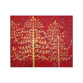 Obraz - Zlaté vánoční stromy