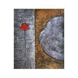 Obraz - Kytka v kamenu