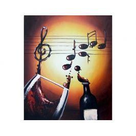 Obraz - Hudba, víno, zpěv