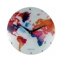 Designové nástěnné hodiny 8187 Nextime Colorful World 43cm